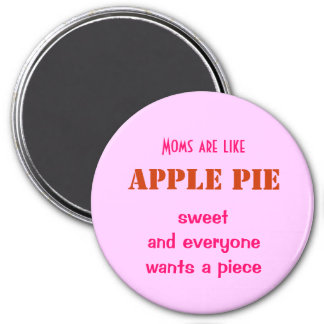 Mother's Day, apple pie - 3 Inch Round Magnet