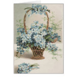 Mother's Day Basket of Forget-Me-Nots - Card
