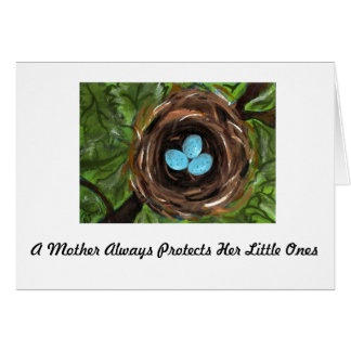 Mother's Day Bird's Nest Card