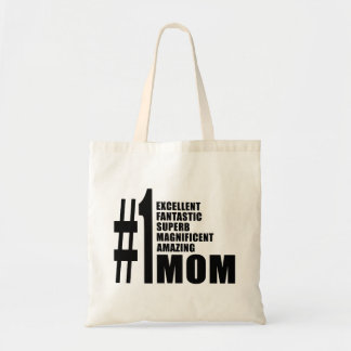 Mothers Day Birthdays Christmas Number One Mom Bags
