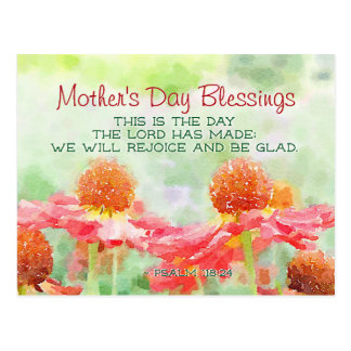 Mother's Day Blessing Psalm 118:24 This is the Day Postcard