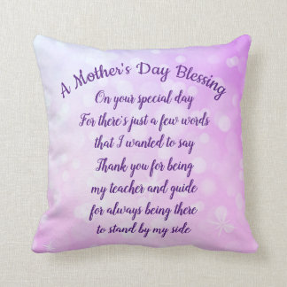 Mother's Day Blessing Throw Pillow