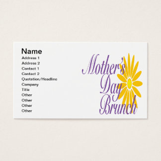 Mothers Day Brunch Business Card