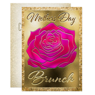 Mothers Day Brunch Rose Gold Card