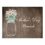 Mother's Day Brunch Rustic Mason Jar & Flowers