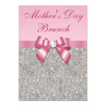 Mother's Day Brunch Silver Jewels Pink Faux Bow