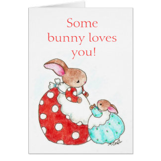 Mother's Day bunny card -