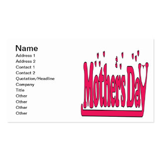 Mothers Day Pack Of Standard Business Cards