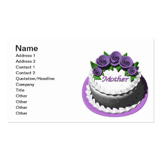 Mothers Day Cake Pack Of Standard Business Cards