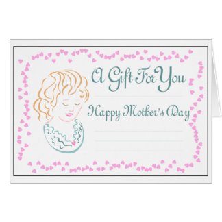 Mother's Day Cameo Gift Card