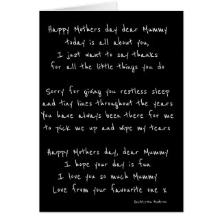 Mothers day, card
