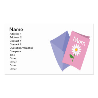 Mothers Day Card Business Card Templates