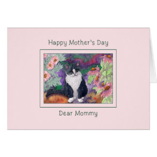 Mother's day card, cat mother's day card