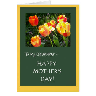 Mother's Day Card for Godmother - 'Tulips'