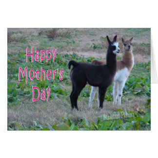 Mother's Day card-llama kids Greeting Card