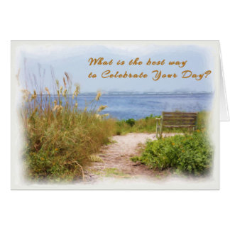 Mother's Day Card with Beach Scenic
