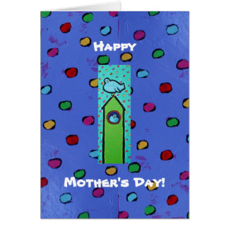 Mother's Day card with lots of bluebirds