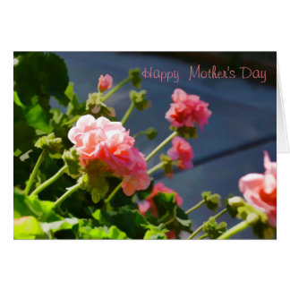 Mother's Day Card with Pink Geraniums