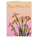 Mothers Day Card With Tiger Lilies