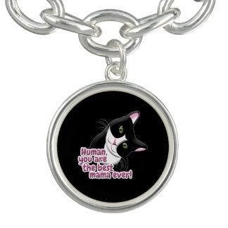 Mother's Day Cat Charm Bracelet