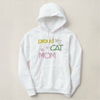 Mother's Day Cat Embroidered Embroidered Hoodie