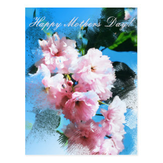 """""""Mothers Day"""" Cherry Blossom Postcard"""
