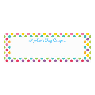 Mother's Day Coupons Business Card Template