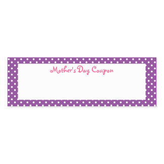 Mother's Day Coupons Business Cards