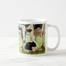 Mother's Day Cow and Calf Coffee Mugs