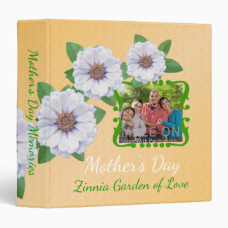 Mother's Day Custom Photo Album Zinnia Garden Binders
