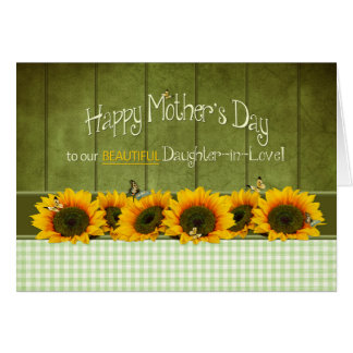Mother's Day - Daughter-in-law - Sunflowers Card