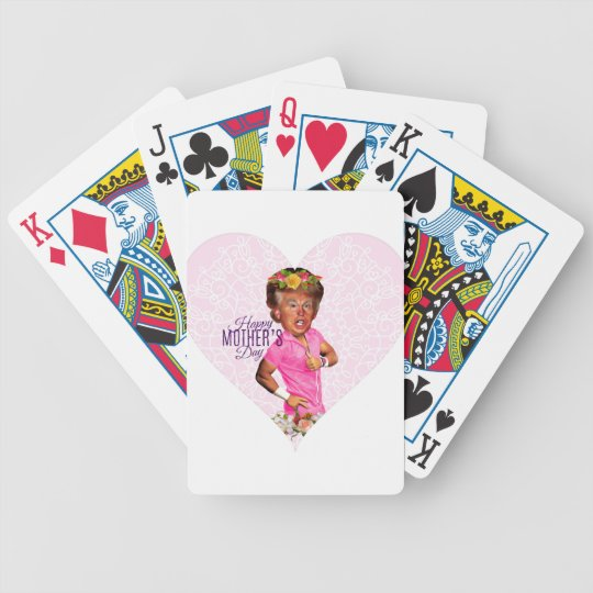 mothers day donald trump bicycle playing cards