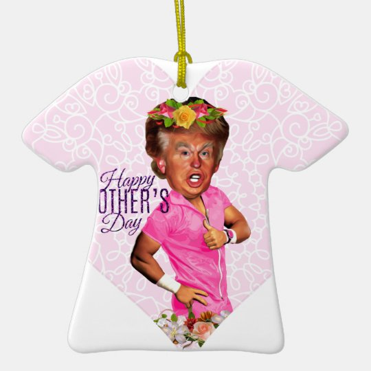 mothers day donald trump ceramic ornament