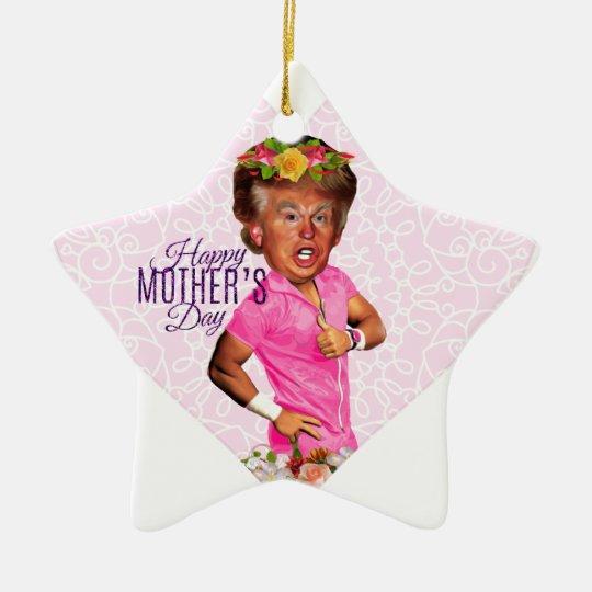 mothers day donald trump ceramic ornament