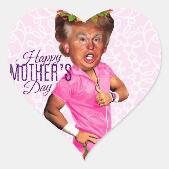 mothers day donald trump heart sticker