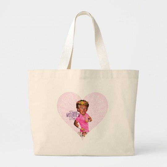 mothers day donald trump large tote bag