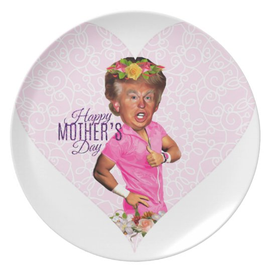 mothers day donald trump plate