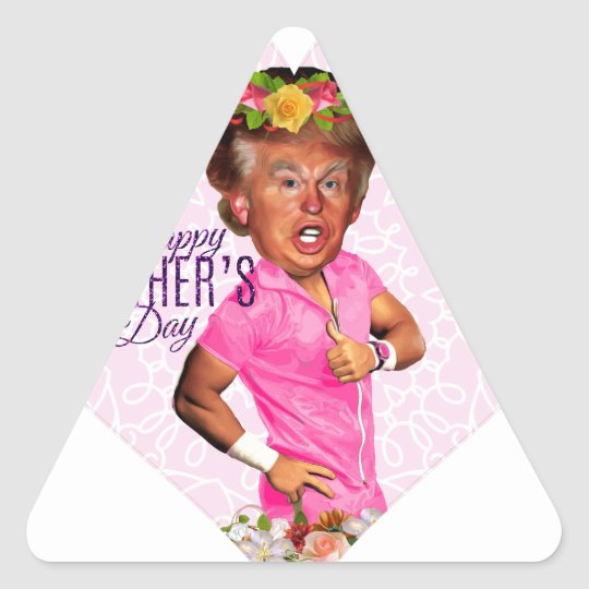 mothers day donald trump triangle sticker