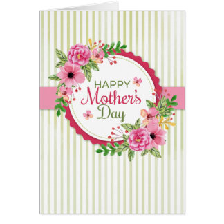 Mother's Day Floral (Optional Photo) Card