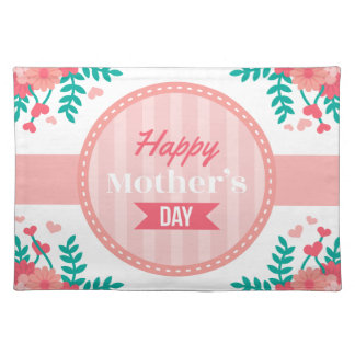 mothers day floral placemat
