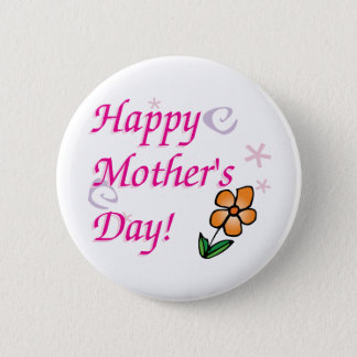 Mothers Day Flower 2 Inch Round Button