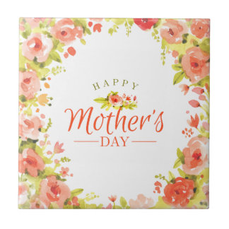 Mother's day flowers ceramic tile