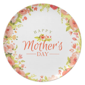 Mother's day flowers dinner plates