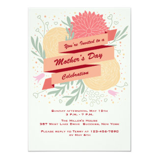 Mother's Day Flowers Invitation