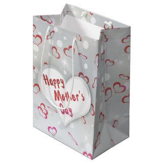 Mother's Day Folded Paper Heart - Medium Gift Tag Medium Gift Bag