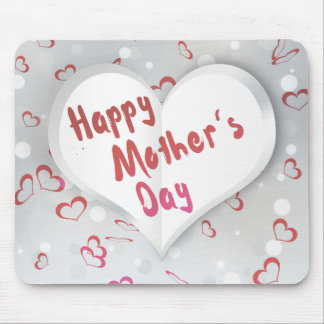 Mother's Day Folded Paper Heart - Mousepad