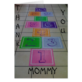 MOTHER'S DAY FROM CHILD(REN) HOPSCOTCH AND LOVE GREETING CARD
