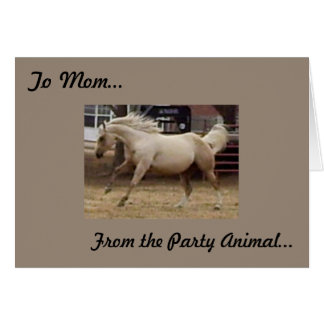 Mother's Day - From Party Animal Card