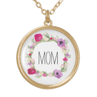 Mother's Day Gift Floral Wreath Necklace