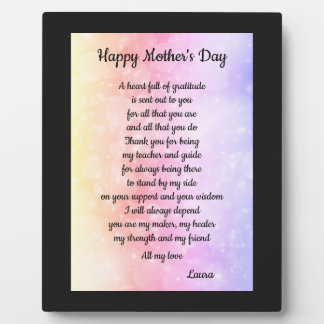 Mother's Day gift Plaque